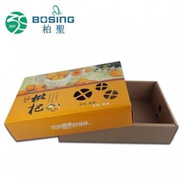 厂家定做 长方形天地盖枇杷包装盒定制5-8斤装新鲜水果杏子包装盒