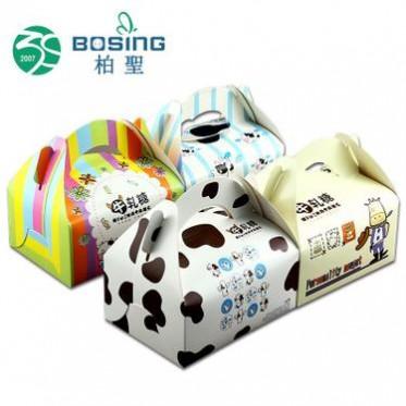 专业定制 商务手工牛轧糖包装盒长方形通用方形手提小西点盒纸盒